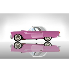 pink classic auto vector image