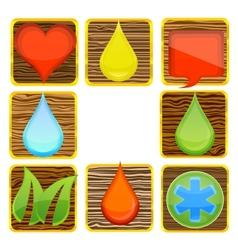 web nature and creative wood symbols set vector image vector image
