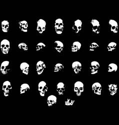 30 skulls vector
