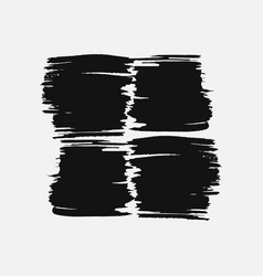 Abstract black thick smear of paint isolated on a vector