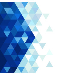 abstract blue triangle modern template for vector image