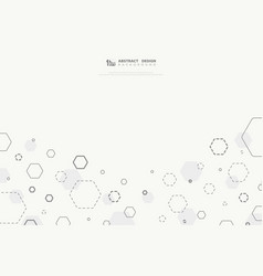 abstract hexagonal technology design cover vector image