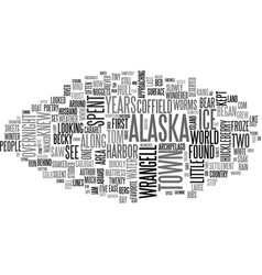Alaska on my mind text word cloud concept vector