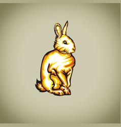 Angry bunny vector