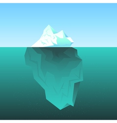 background with Iceberg in the sea vector image