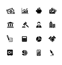 business finance web icons black series vector image
