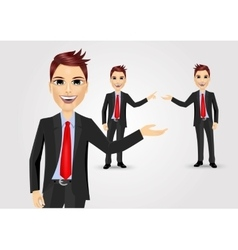 Business man showing something vector