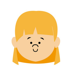 Cartoon little girl young female person vector