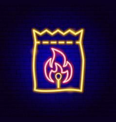 coal neon sign vector image