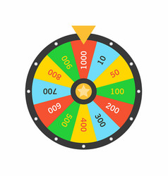 Colorful wheel fortune lottery luck vector