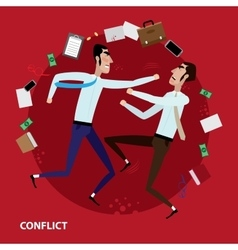 Conflict of two businessmen vector image