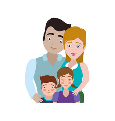 Couples relationship family children vector