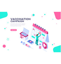 Day of vaccination campaign poster vector