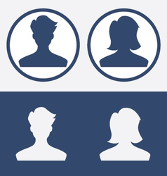 Default profile picture male female vector image
