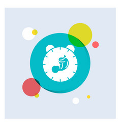 Delivery time baby birth child white glyph icon vector
