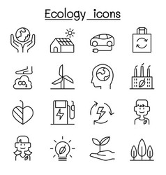 ecology sustainable design conservation eco vector image