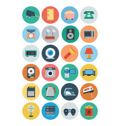 Electronics Flat Icons 2 vector image