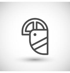 Face shield line icon vector