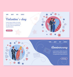 Family anniversary and events to valentines day vector