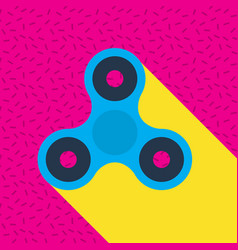 Fidget spinner memphis style icon vector