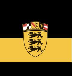 Flag baden-wrttemberg vector