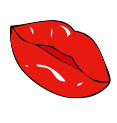 Full lips and sensual vector image