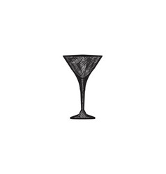 glass cocktail logo designs inspiration isolated vector image