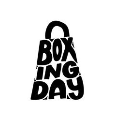 Hand drawn lettering for boxing day modern brush vector