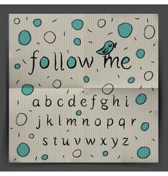 Handwriting alphabet - follow me vector