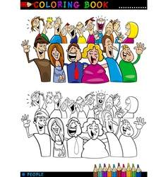 Happy People group for coloring vector