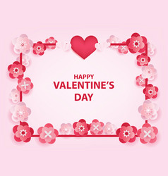 happy valentines day object background with vector image