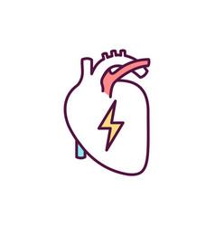 Heart disease diagnosis rgb color icon vector