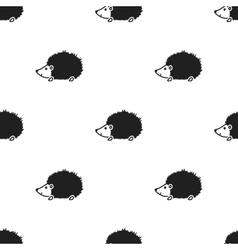 Hedgehog icon in black style isolated on white vector image