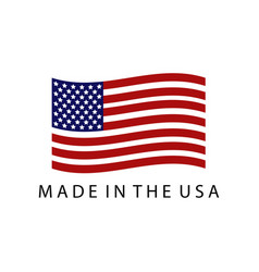 Icon made in usa vector