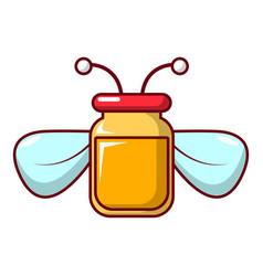 jar of honey icon cartoon style vector image
