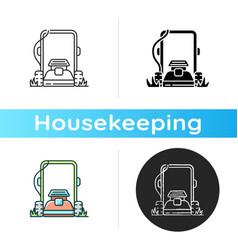 lawn mowing icon vector image