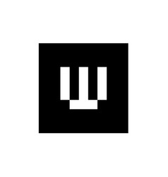 Letter w logo combined with square shape vector