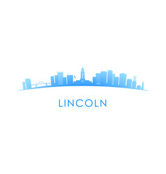 lincoln skyline silhouette design colorful vector image