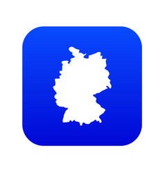 Map germany icon digital blue vector
