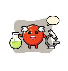 Mascot character china flag badge as a vector