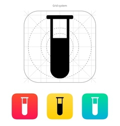 Medical test-tube icon vector image