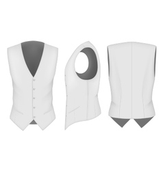 Men waistcoat for business men vector image