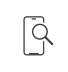 mobile phone search outline icon linear style vector image