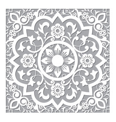 moroccan retro carved mandala design vector image