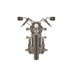 motorcycle flat icon chopper motorbike vintage vector image