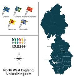 North west england vector