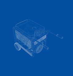 outline portable gasoline generator vector image