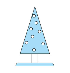 pine tree christmas related icon image vector image