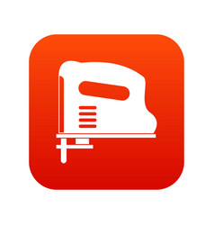 pneumatic gun icon digital red vector image