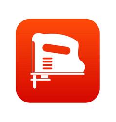Pneumatic gun icon digital red vector